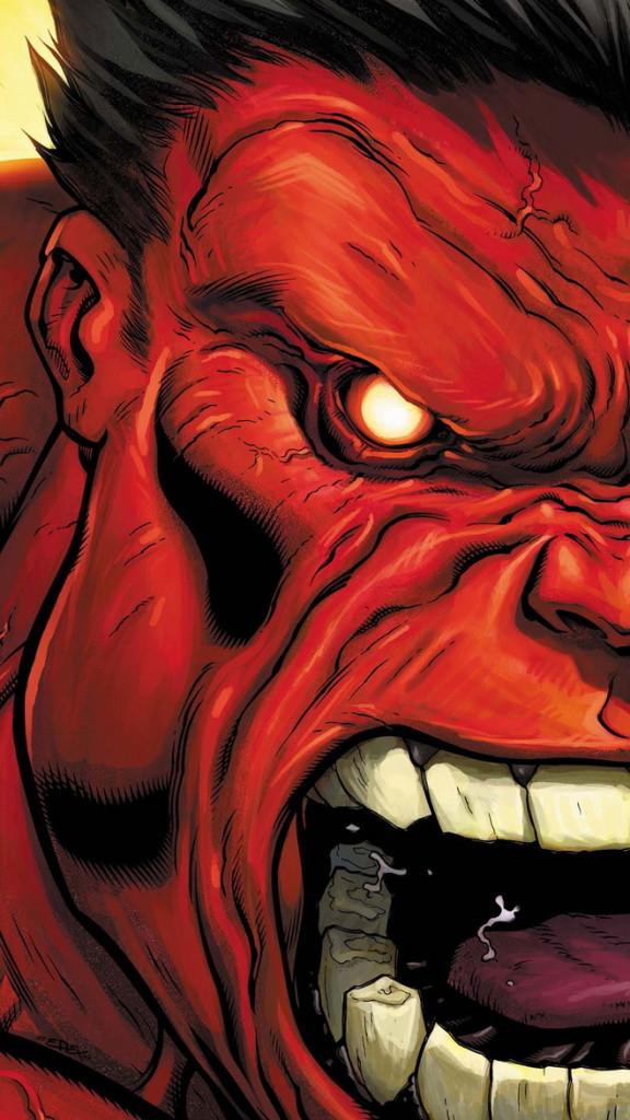 Hulk red face