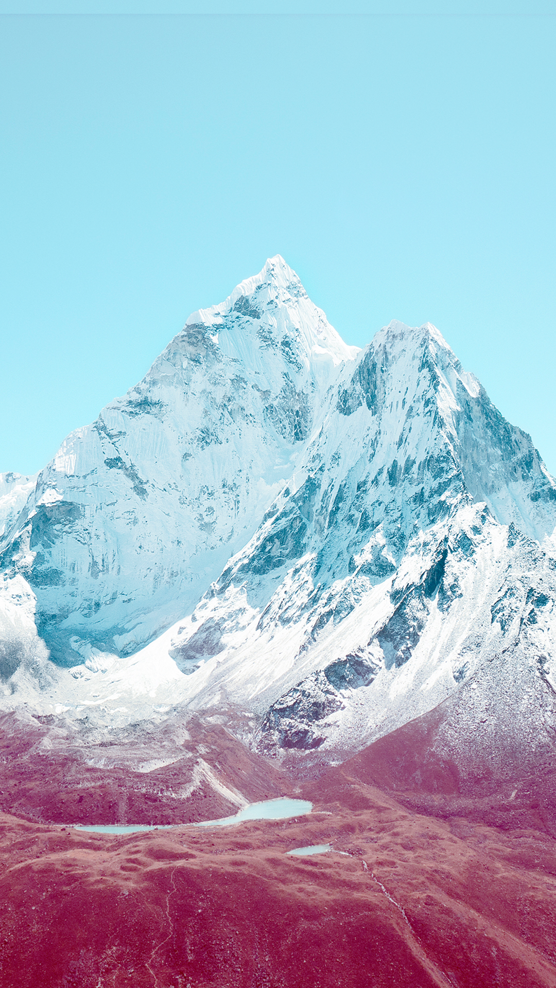 iOS 7 Mountains HTC hd wallpaper