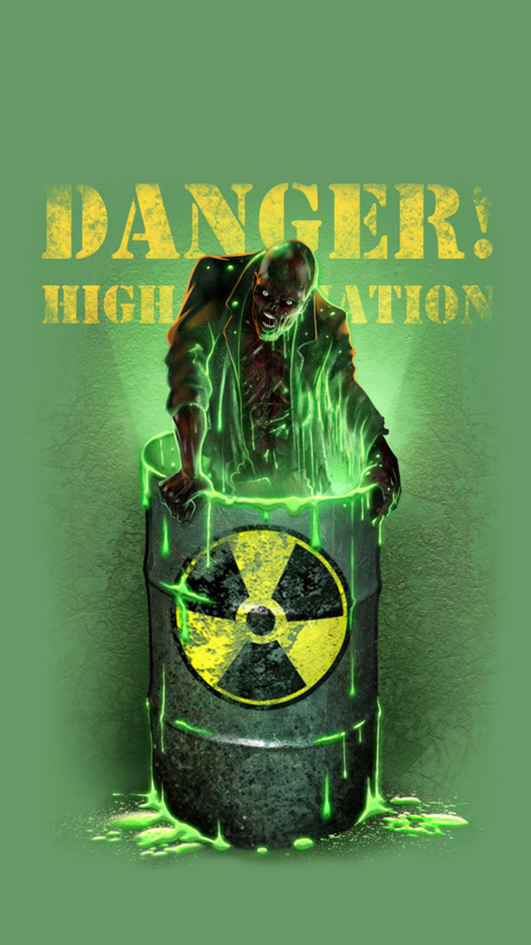 Danger zombie Halloween
