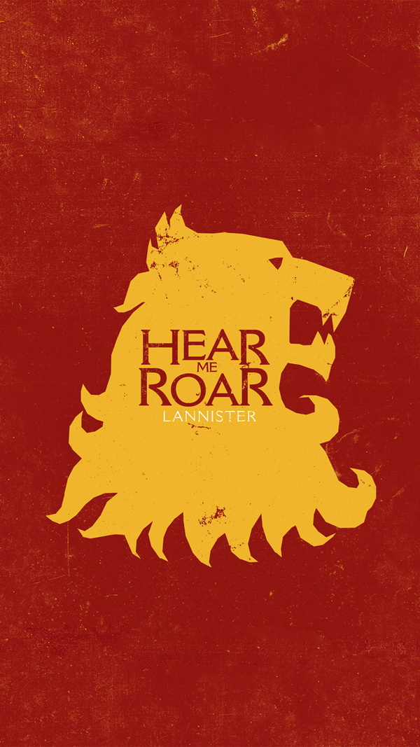 Game Of Thrones Hear me Roar Lannister