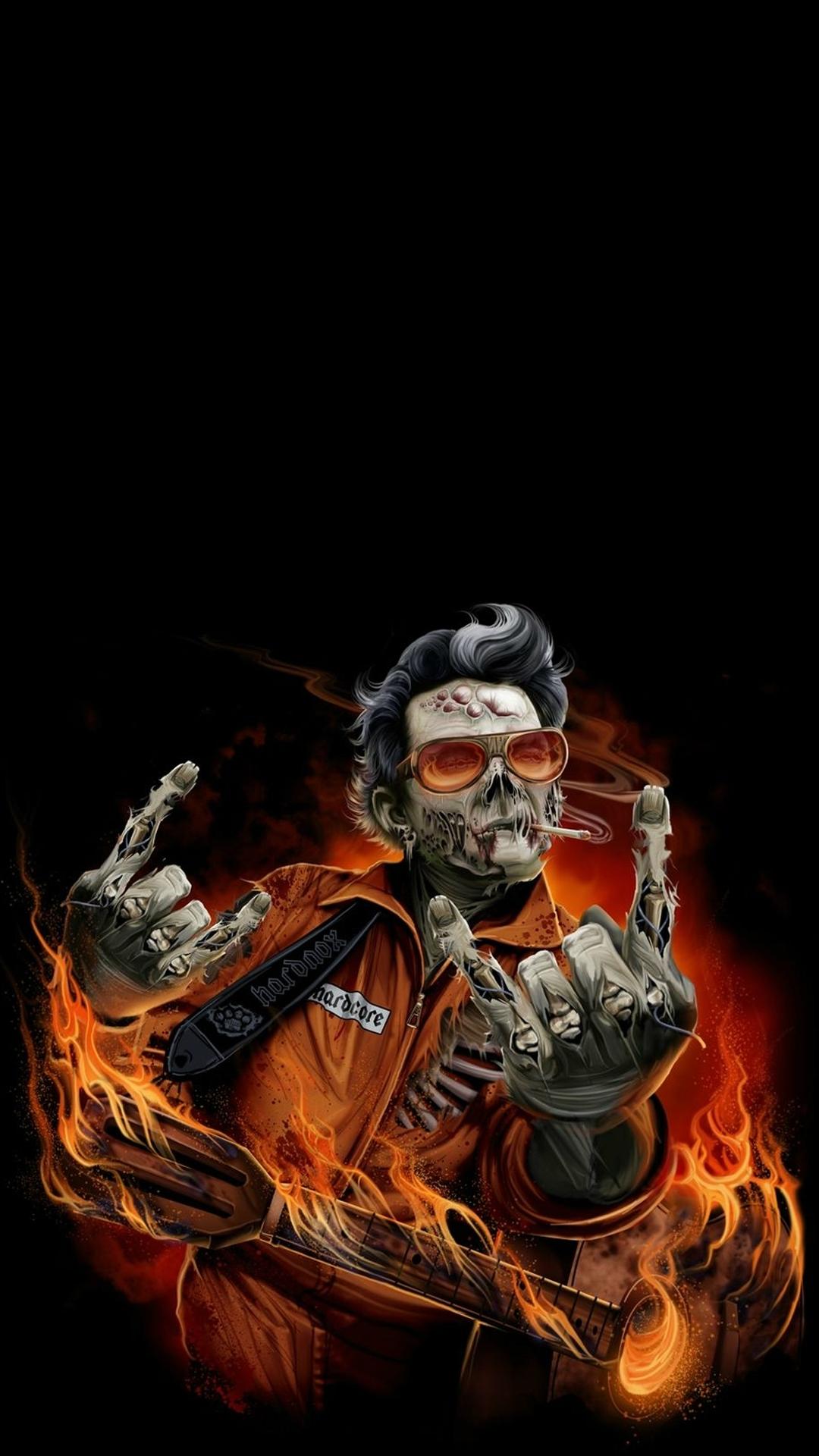 Hard rock zombie Halloween