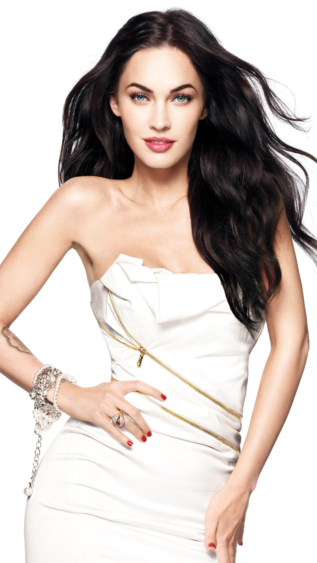 Megan Fox in white