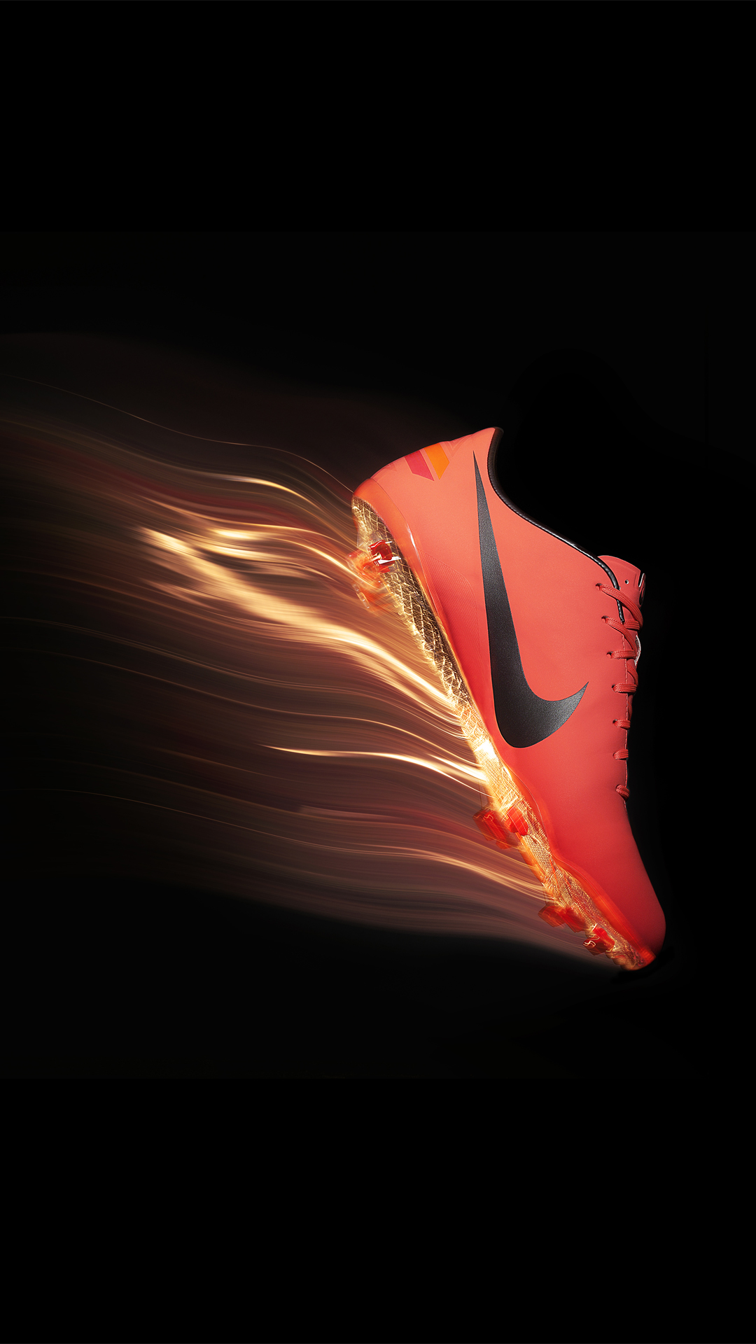 Nike soccer in flames