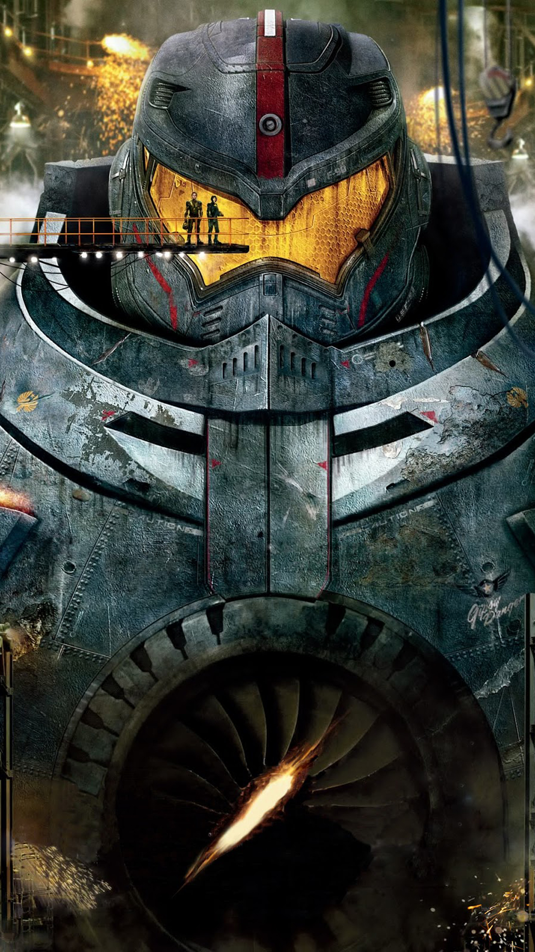 Pacific RIM robot HTC one wallpaper
