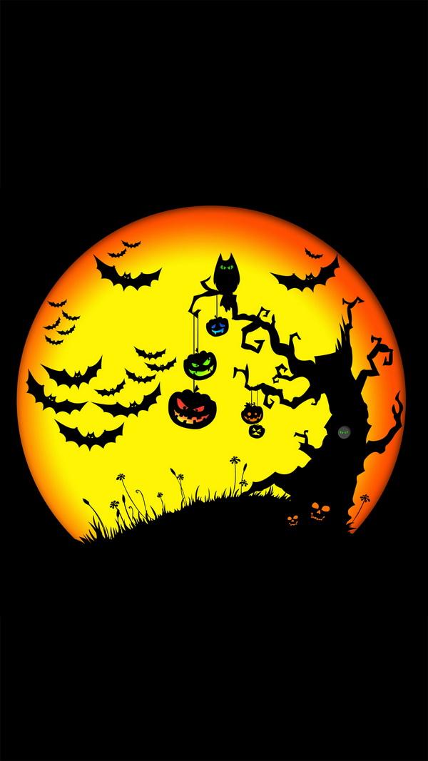 Pumpkin tree Halloween