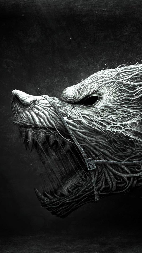 Scary werewolf Halloween