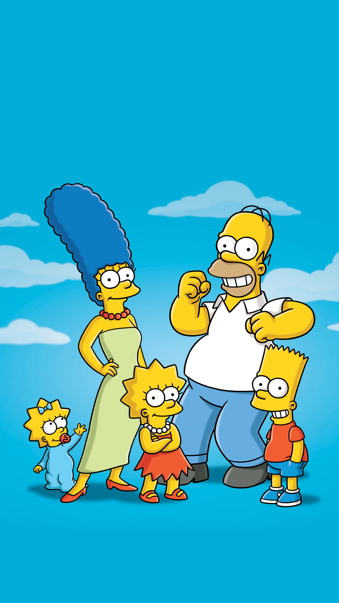 Simpsons Family HTC one wallpaper