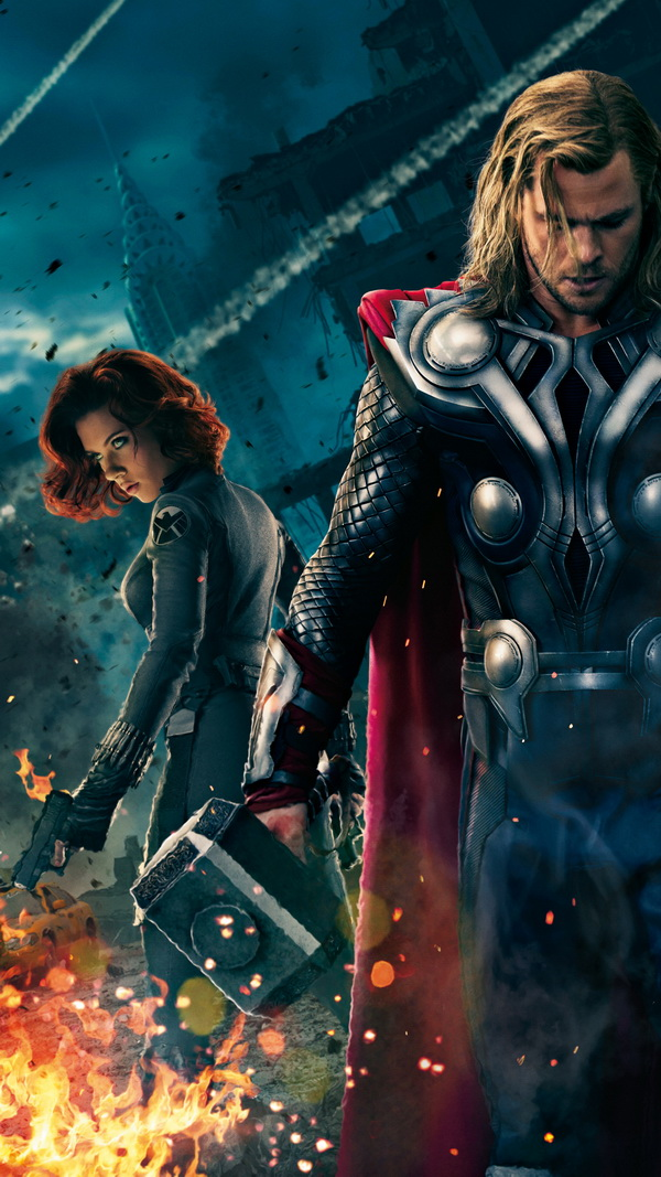 The Avengers Thor And Black Widow Best Htc One Wallpapers