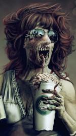 Zombie brain eater Halloween