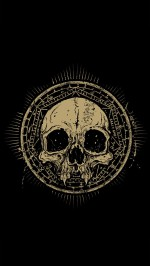 The skull htc one wallpaper