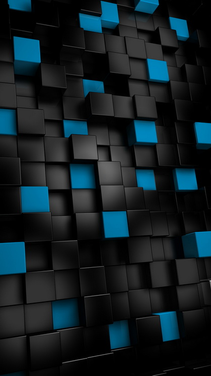 Abstract black cubes