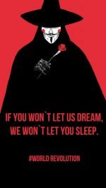 Black red revolution v for vendetta