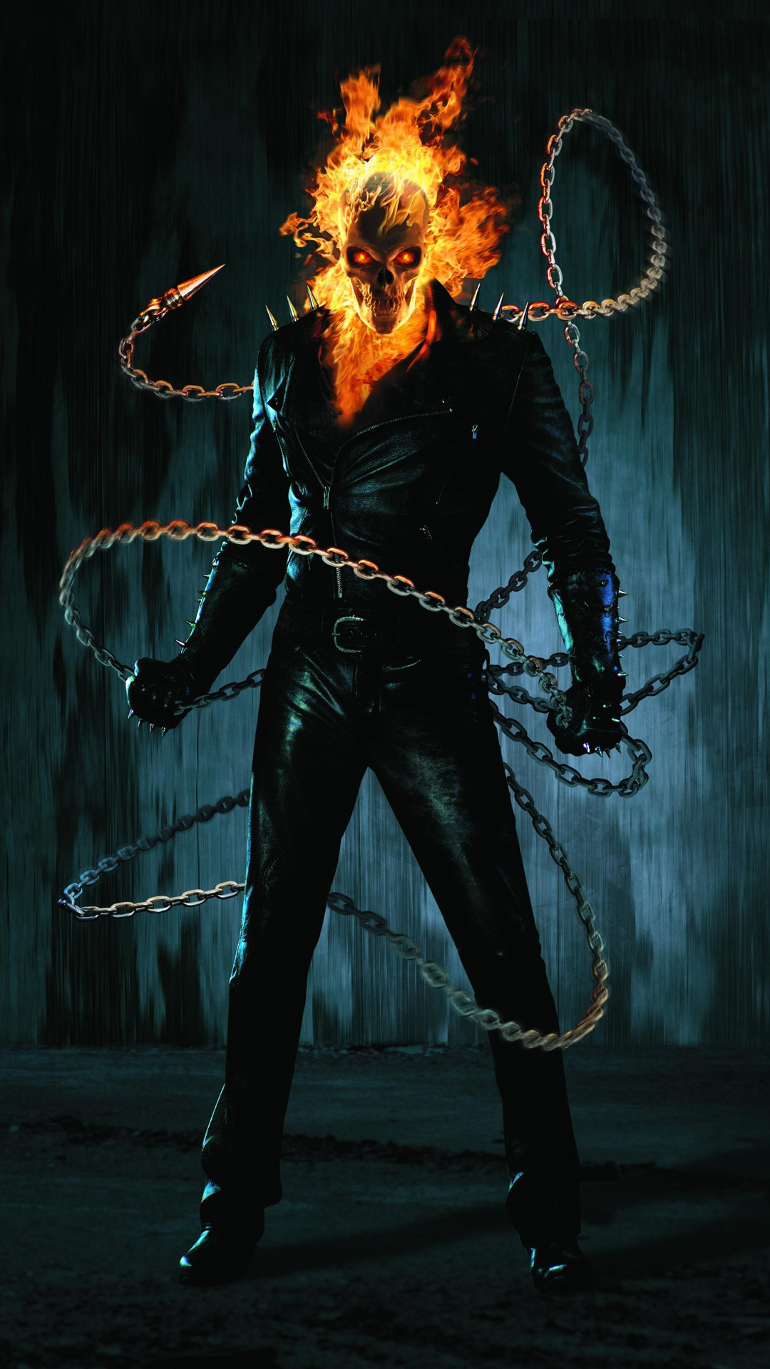 Ghost Rider chains htc one wallpaper