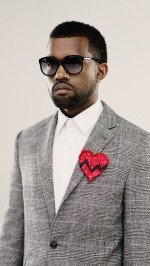 Kanye West in suit