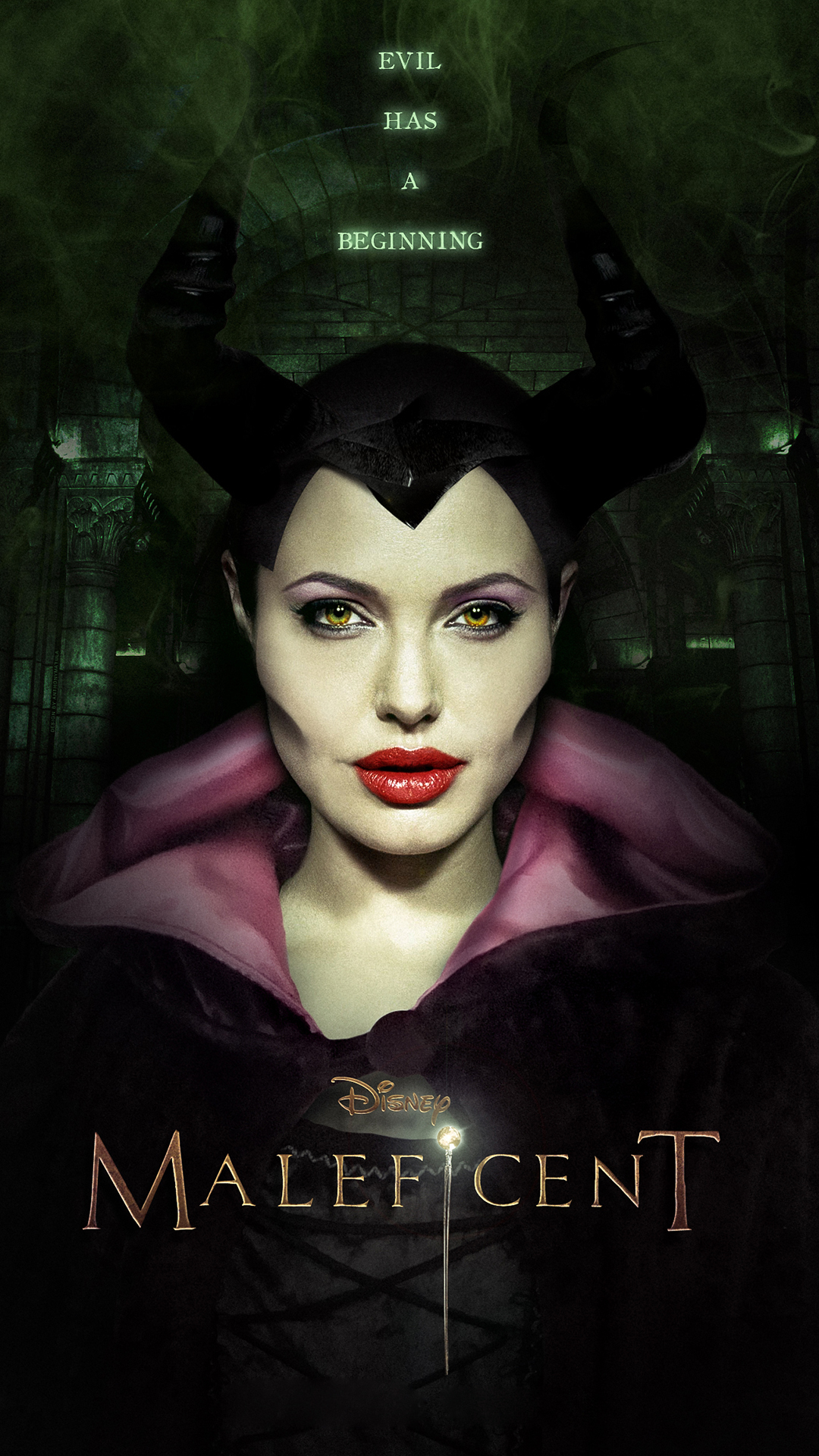 Maleficent Angelina Jolie htc one wallpaper