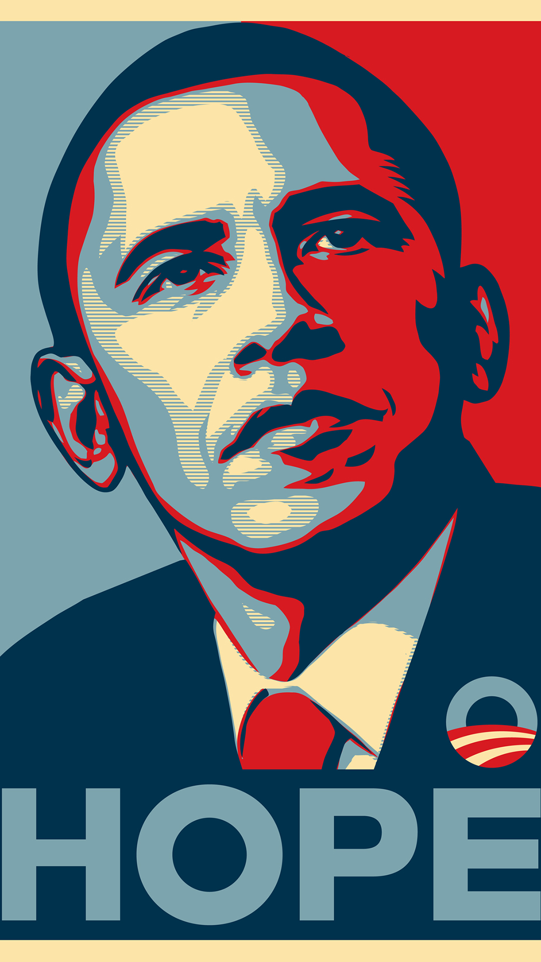 Obama Hope htc one wallpaper