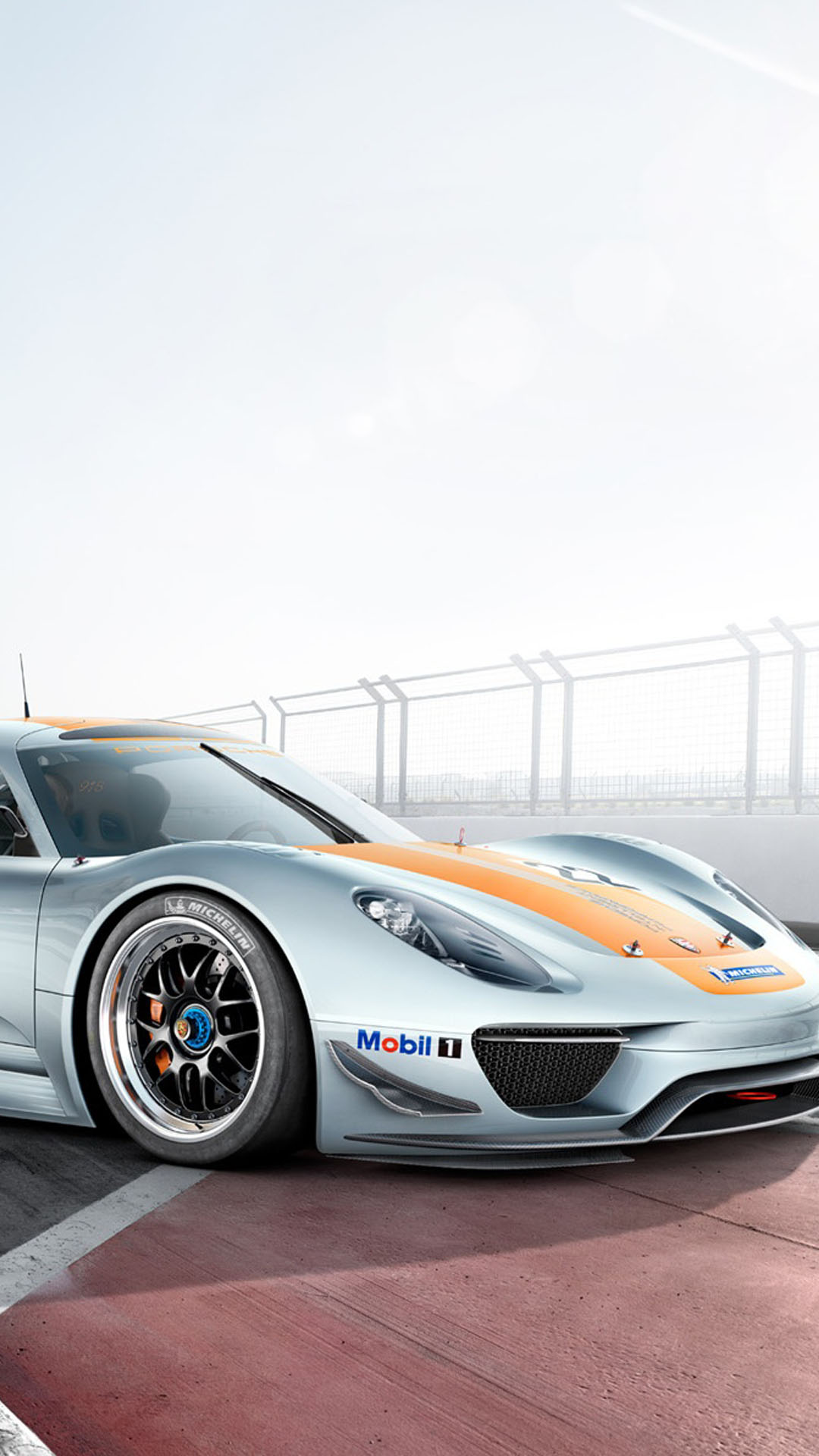 Porsche 918 RSR Front Htc One Wallpaper