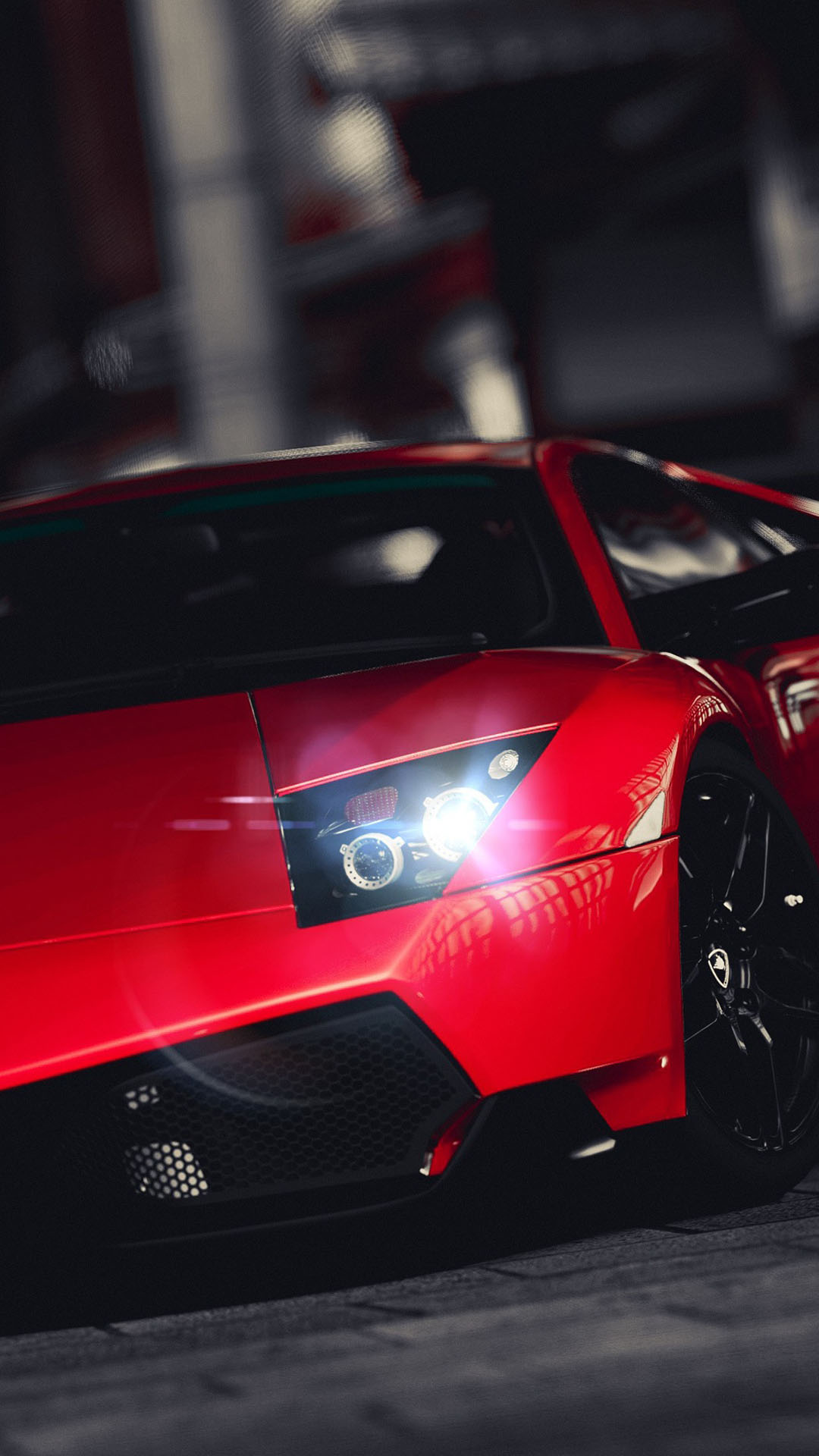 Red Lamborghini Murcielago Superveloce htc one wallpaper