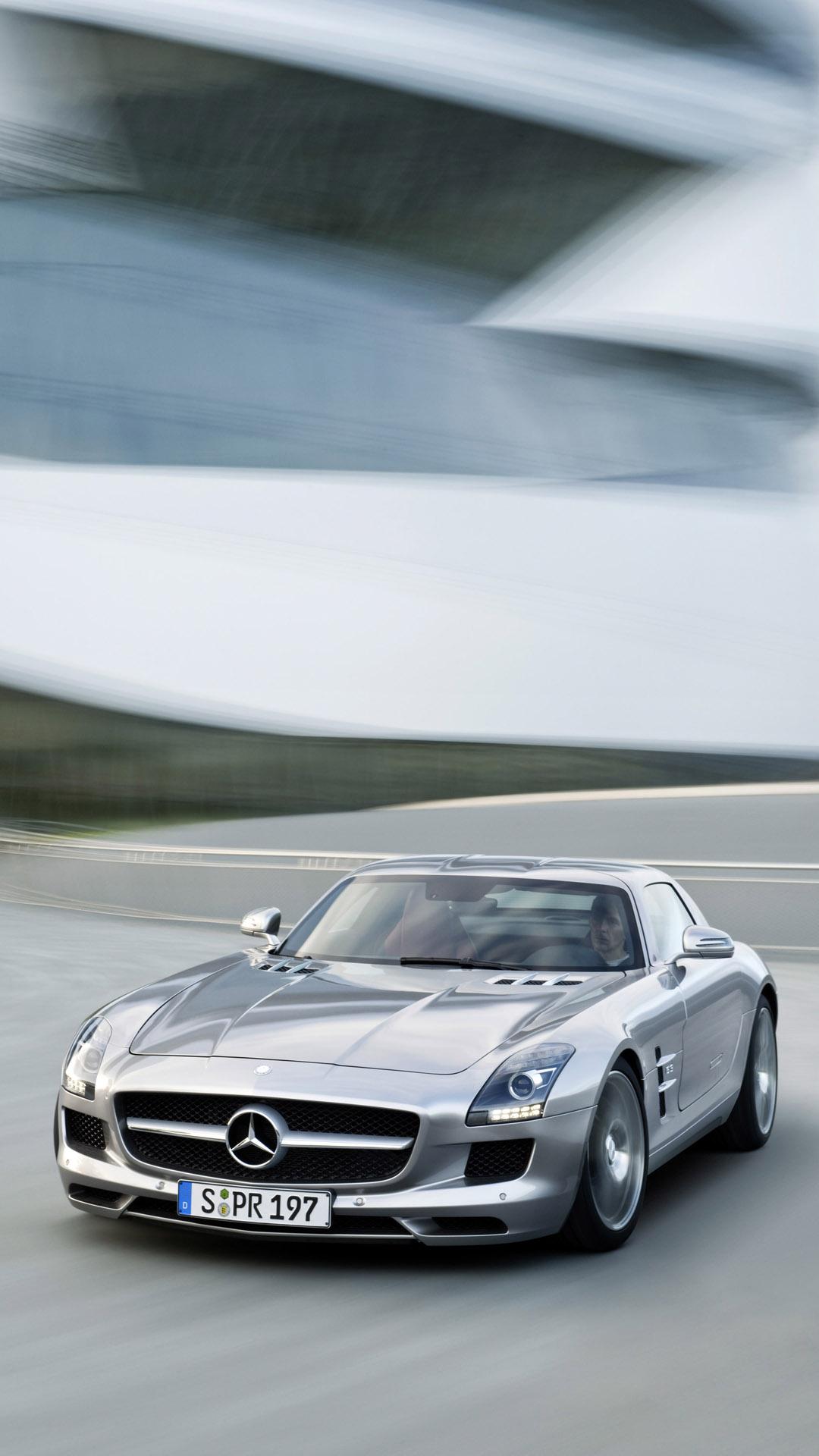 Mercedes-Benz SLS AMG htc one wallpaper
