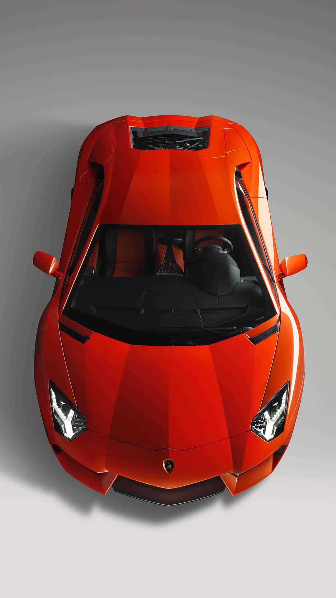 Red Lamborghini Aventador htc one wallpaper