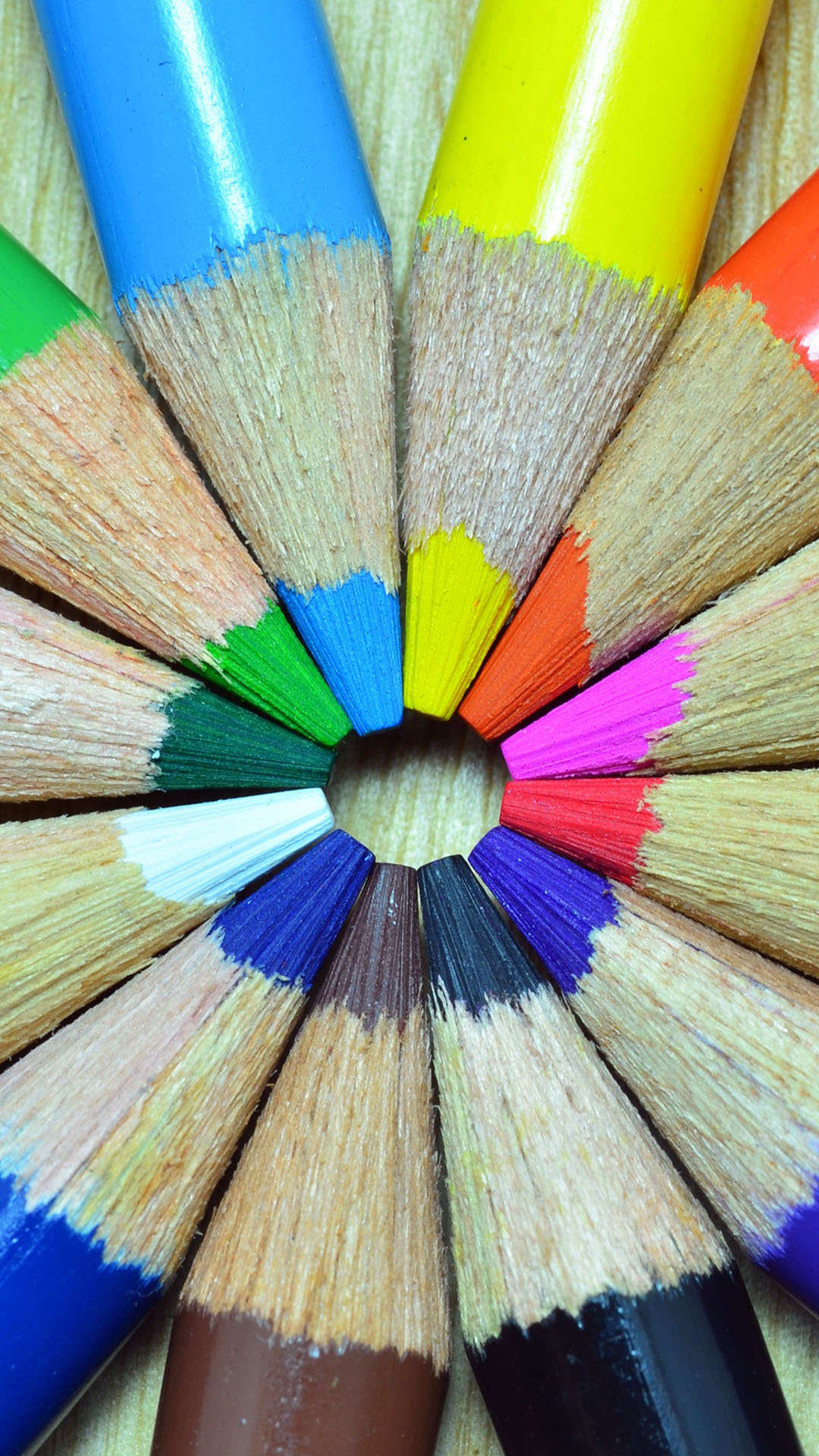 Colored Pencils Round htc one wallpaper