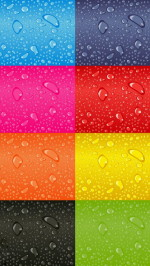Colorful Blocks with Water Drops
