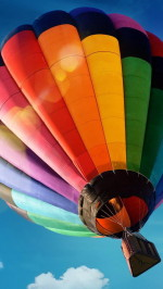 Colorful hot air balloon htc one wallpaper