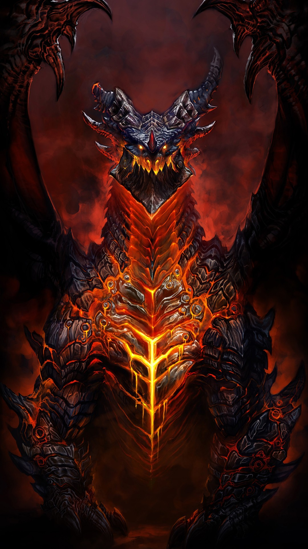 Deathwing world warcraft htc one 1080x1920 wallpaper - World of warcraft images ...