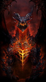 Deathwing world of warcraft 1080x1920 wallpaper