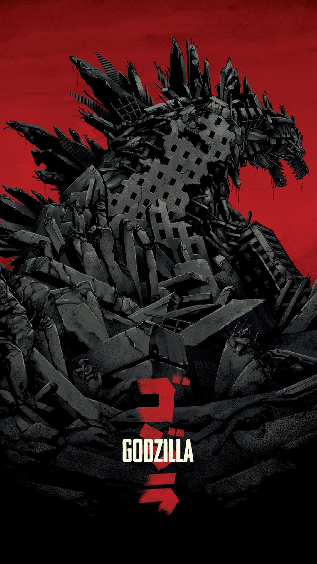 Godzilla 2014 htc one wallpaper