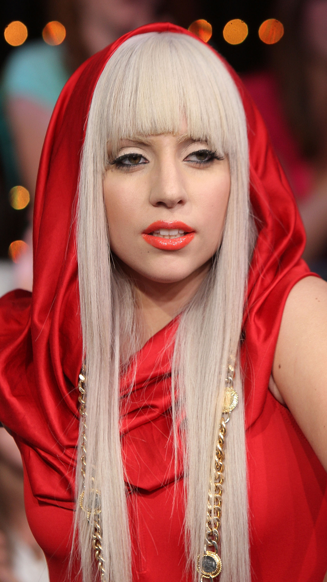 Lady Gaga in red htc one wallpaper