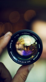 Self portrait in a lense