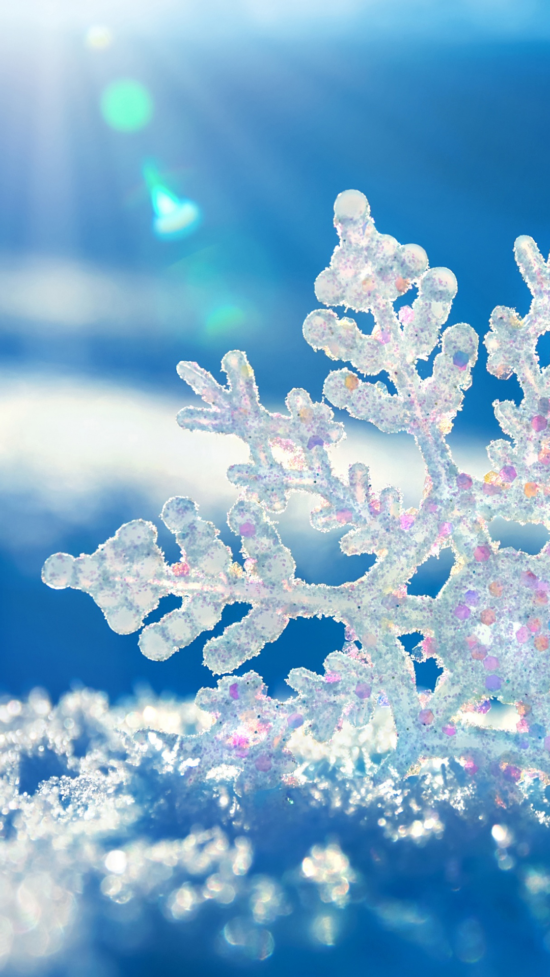 Snowflake htc one wallpaper