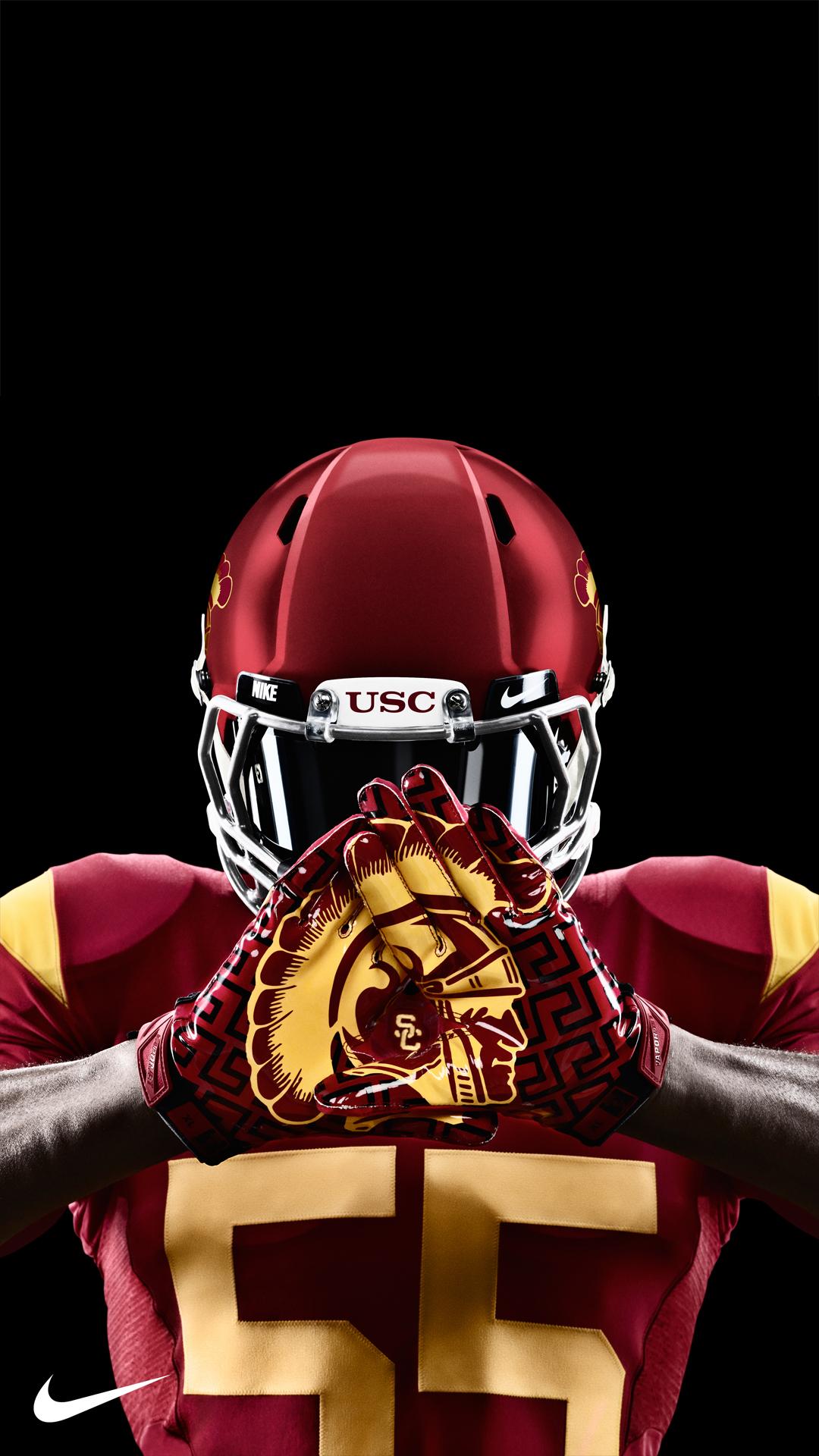 USC Nike Gloves