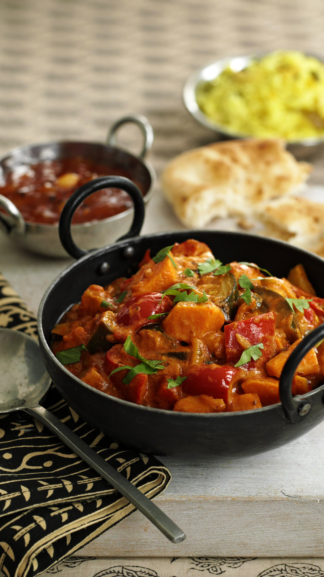 Sweet potato and aubergine masala