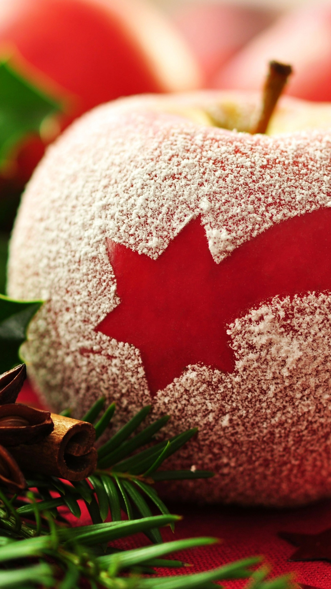 Christmas apple htc one wallpaper