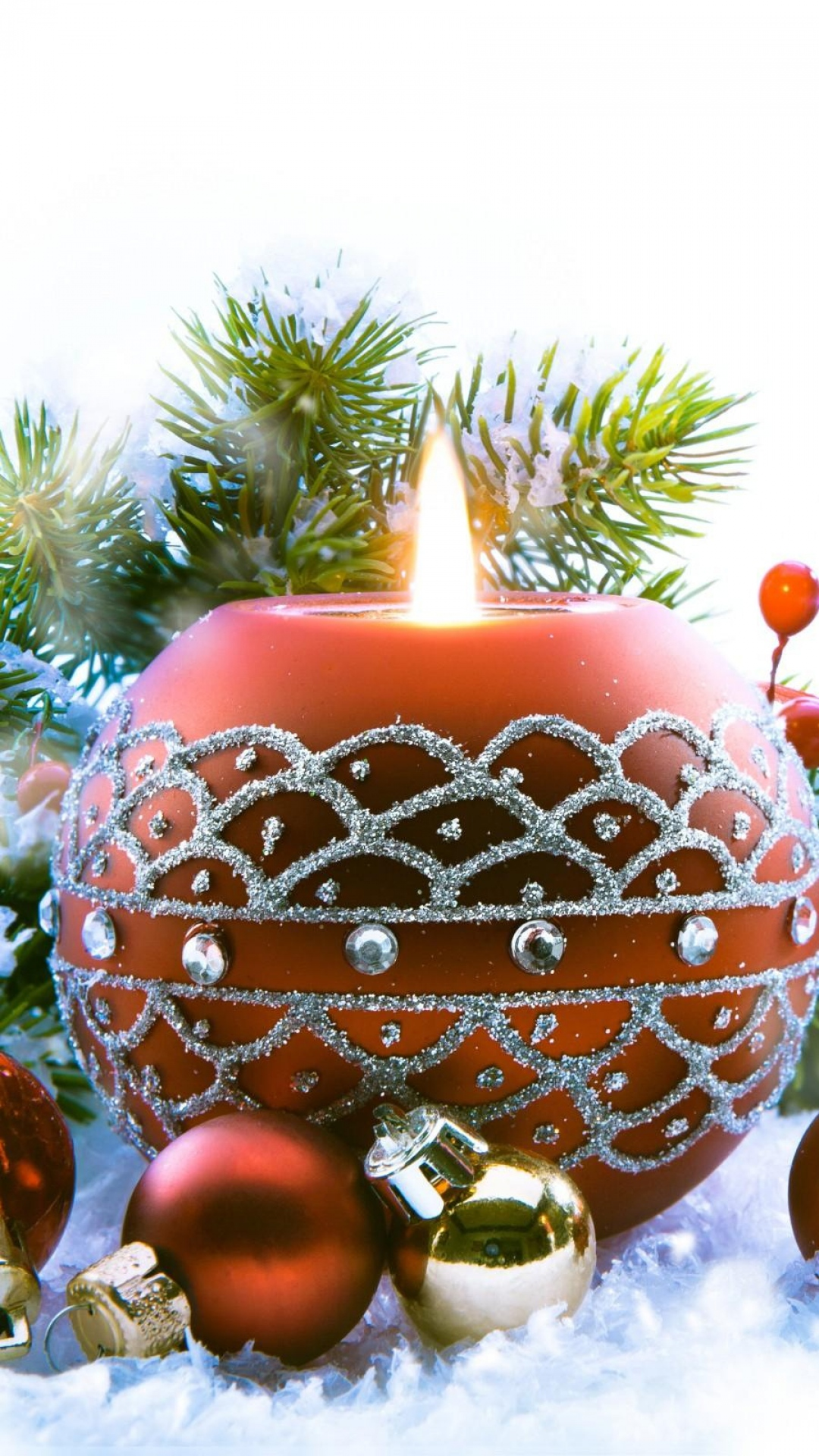 Christmas Candle Htc One Wallpaper Best Htc One Wallpapers