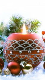 Christmas candle htc one wallpaper