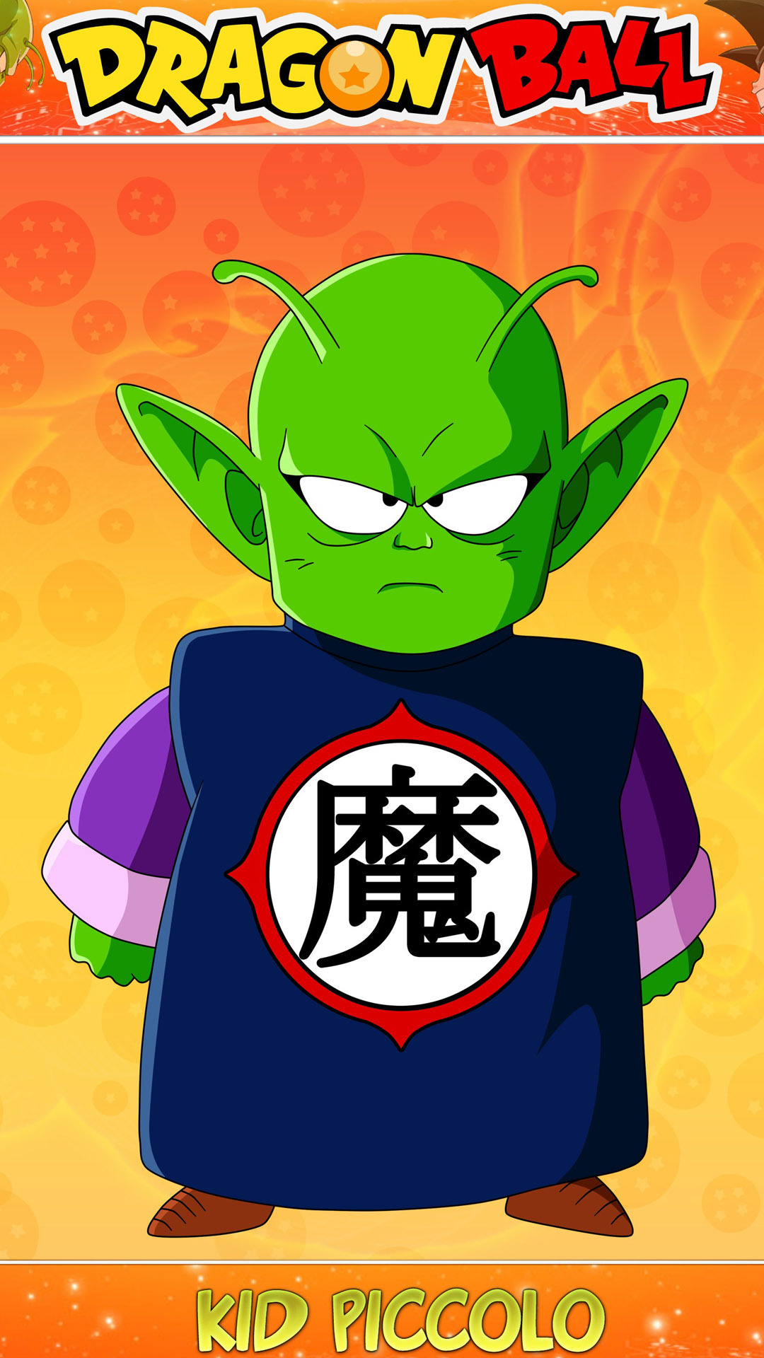 Kid piccolo dragon ball anime