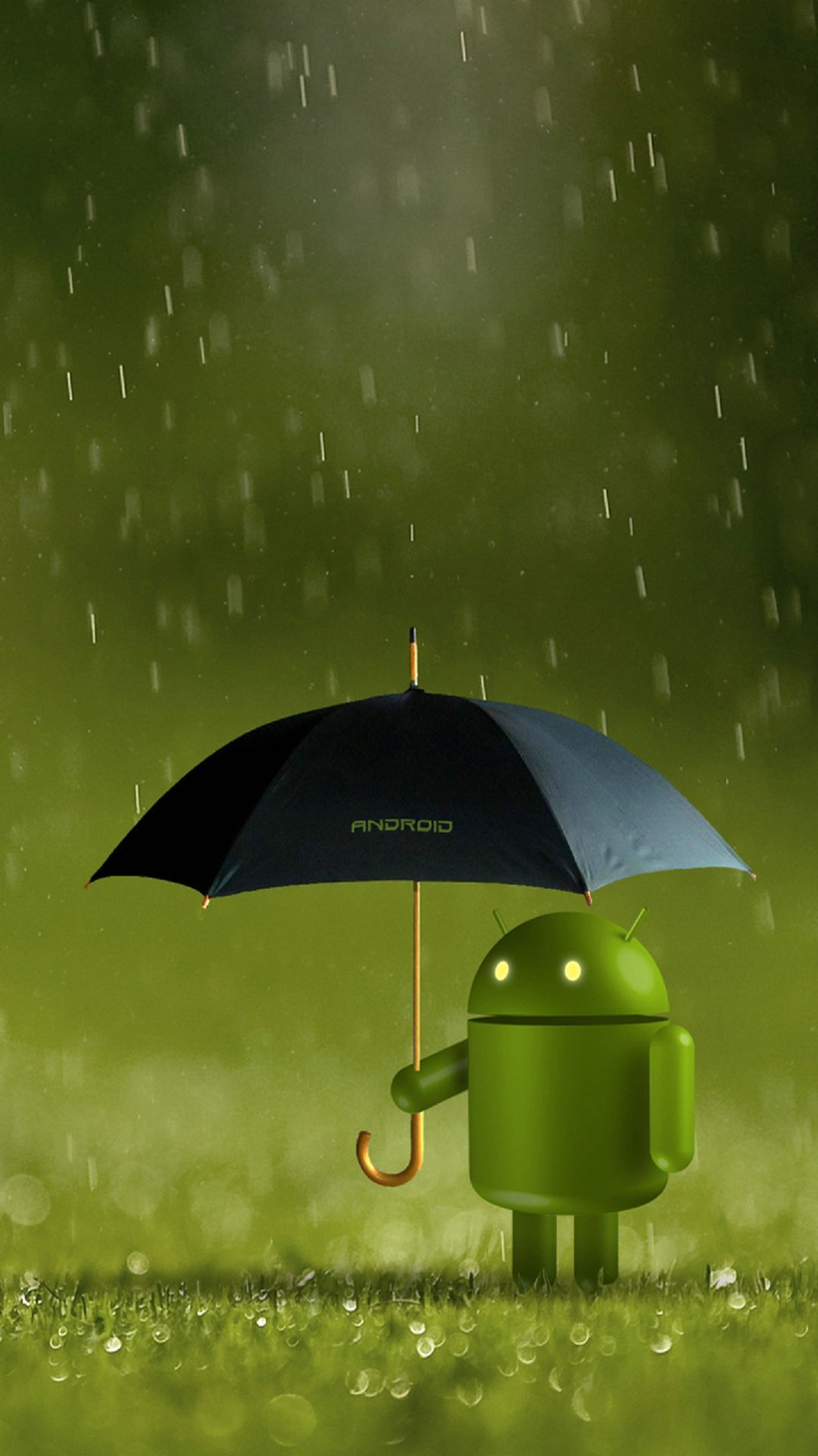 Android robot doll rain best htc one wallpapers for Wallpaper home android