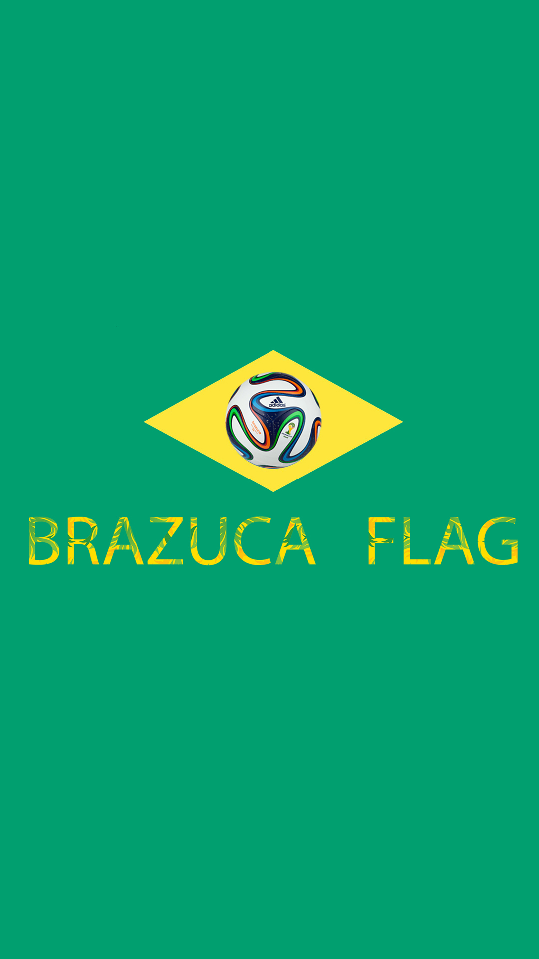 Brazuca Flag world cup 2014