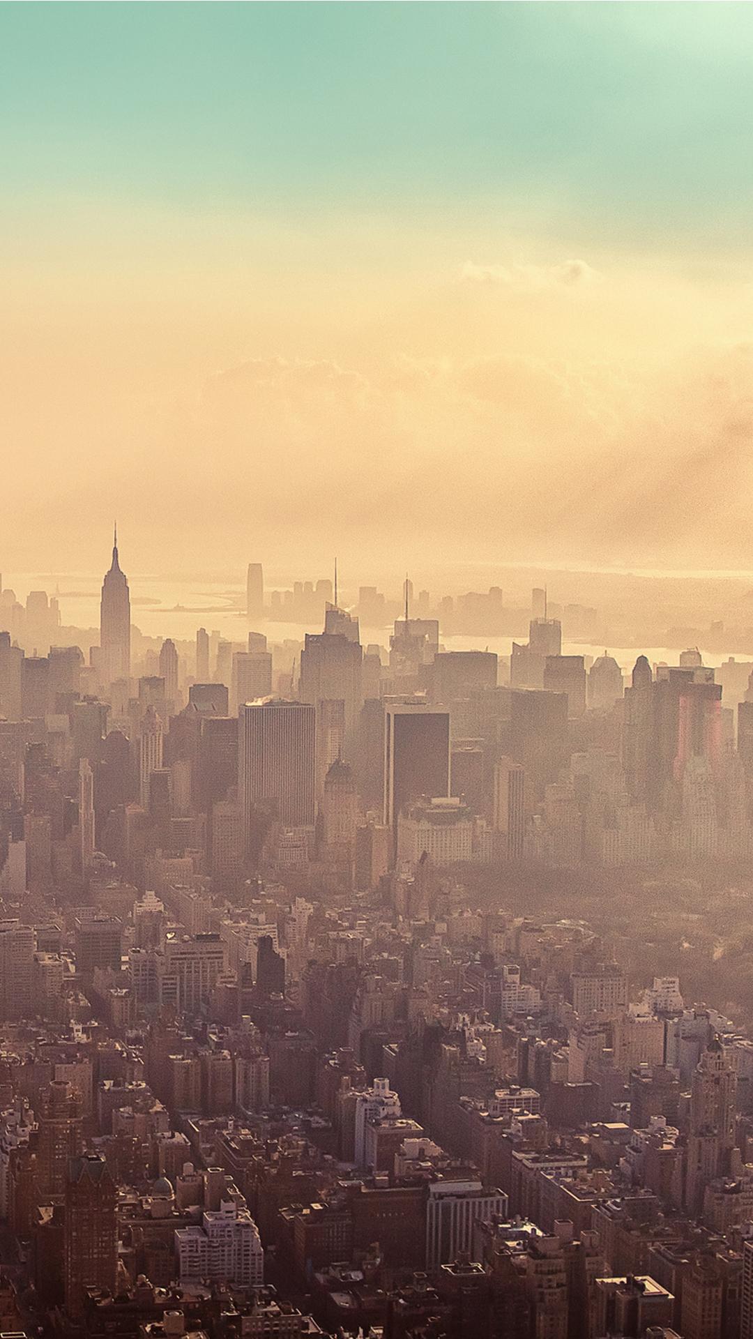 New York City Sunrise Haze Best Htc One Wallpapers
