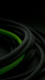 3D Black Green rope
