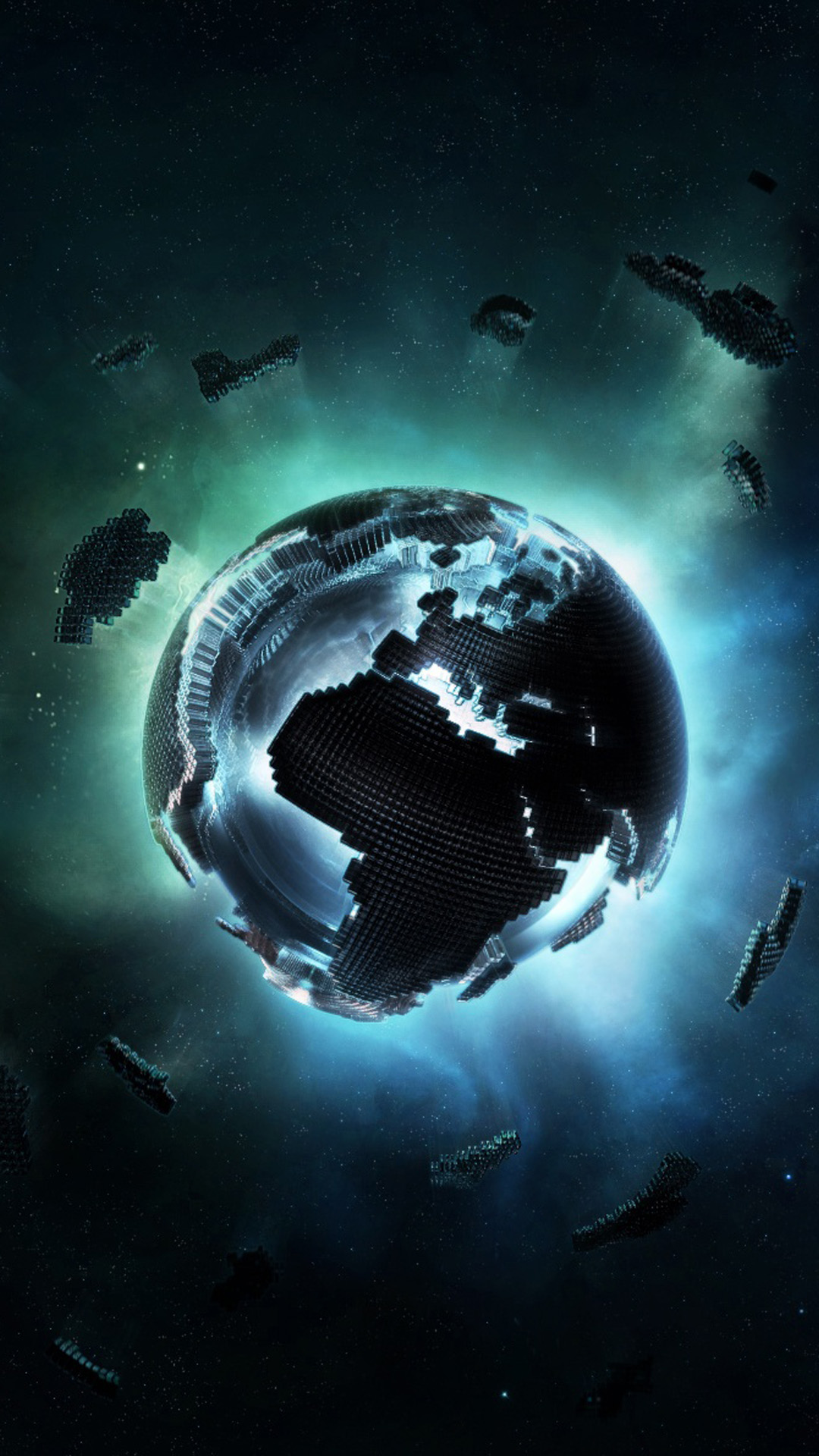 3D pixel earth