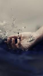 Abstract Hand 3D Ocean