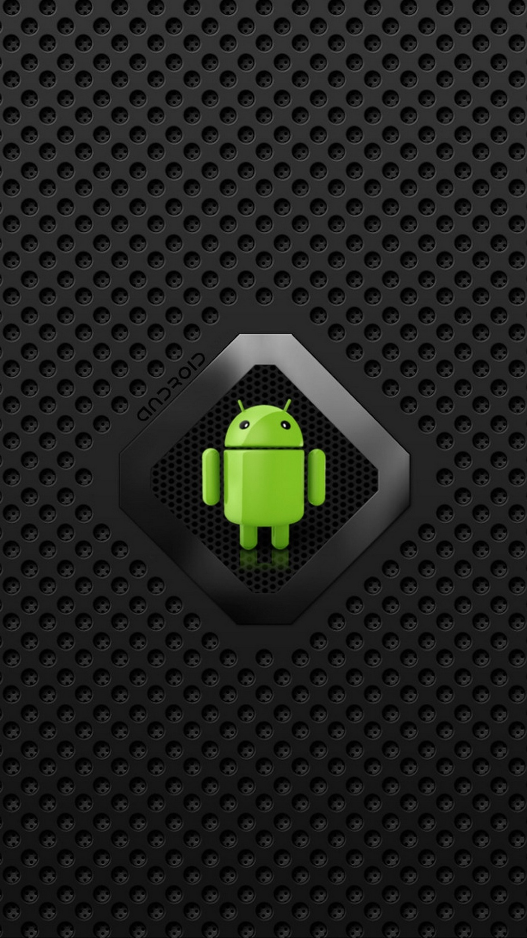 android logo on carbon dot pattern