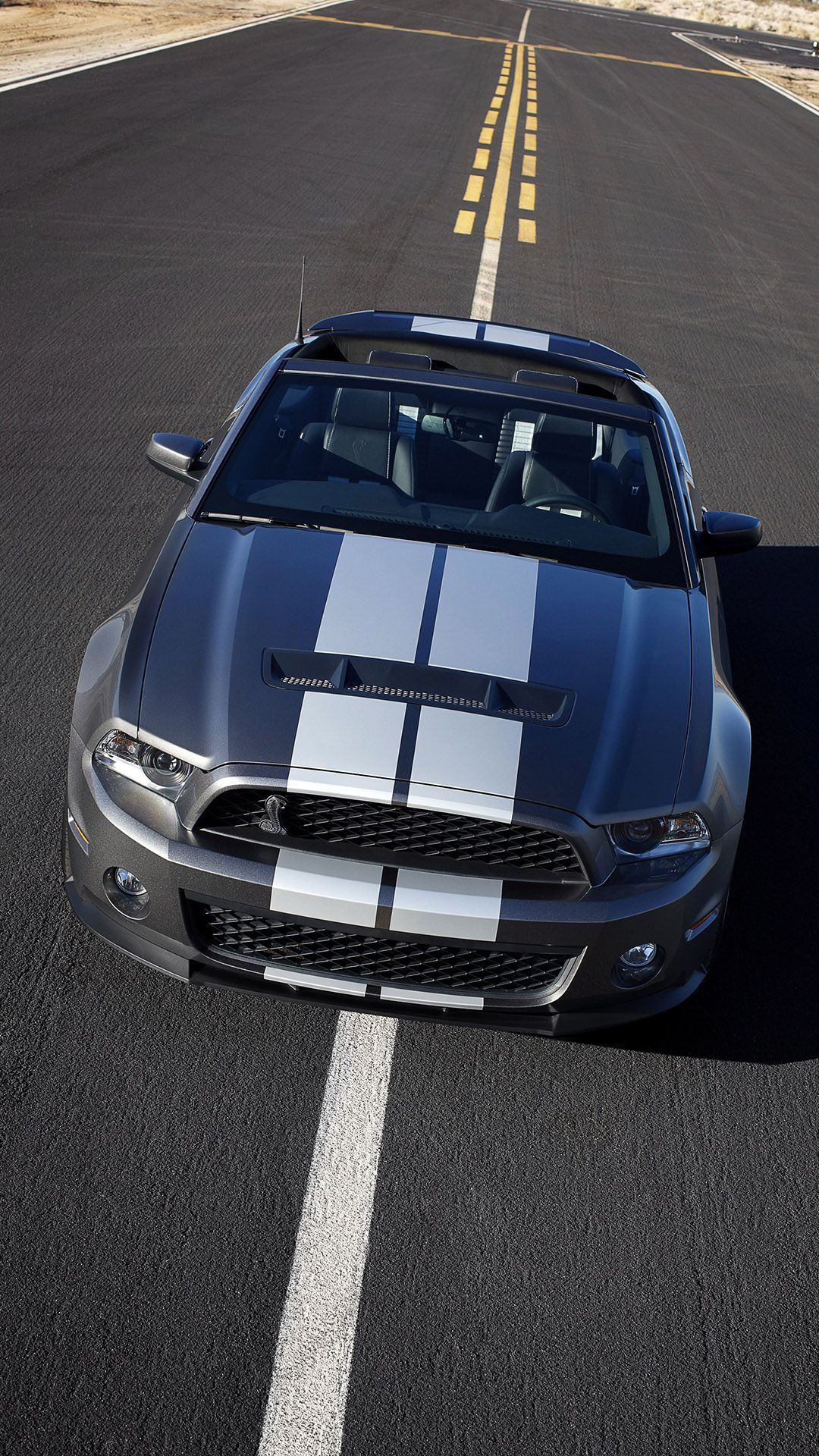 Blue Ford Mustang Shelby GT 500