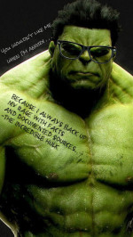 Hulk green scar