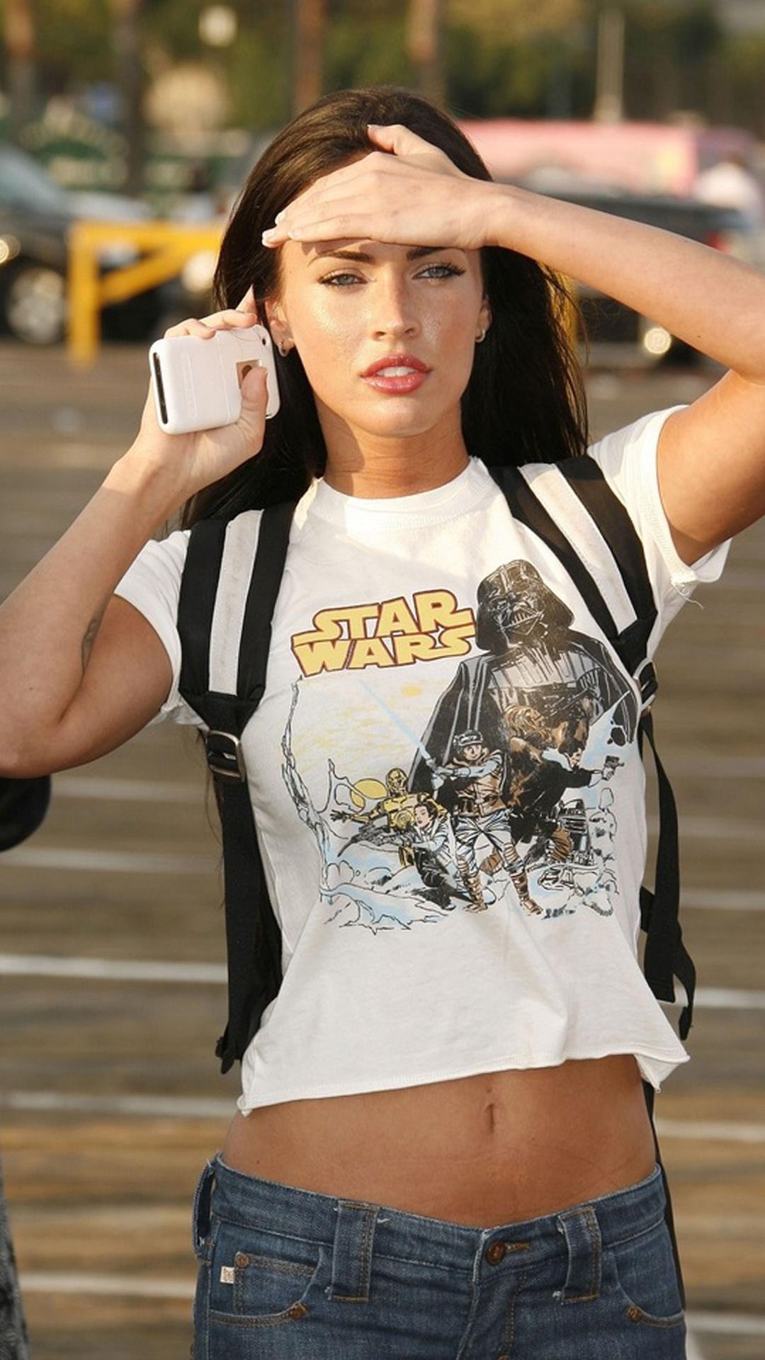 Megan Fox Star Wars t shirt Best htc one wallpapers