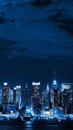 Metropolis Big City Night Skyline